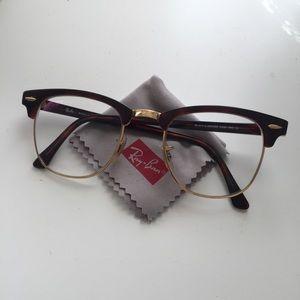 Rayban Clubmaster Gold & Tortoise Eyeglasses